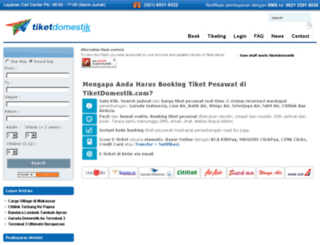 tiketdomestik.com screenshot