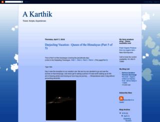 tildekarthik.blogspot.com screenshot