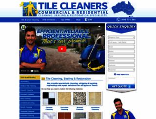 tilecleaners.com.au screenshot