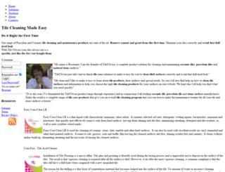 tilecleaning.co.za screenshot