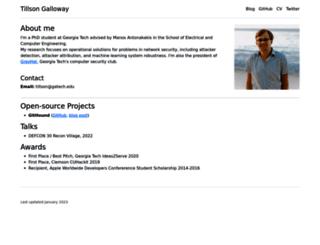 tillsongalloway.com screenshot
