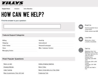 tillys.custhelp.com screenshot