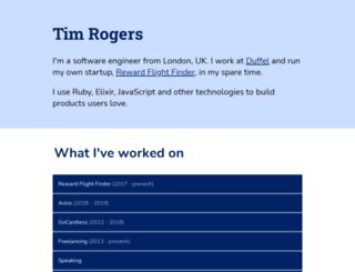tim-rogers.co.uk screenshot