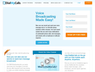tim.dialmycalls.com screenshot