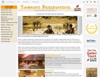 timbavatireservations.co.za screenshot