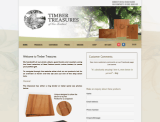 timbertreasures.co.nz screenshot