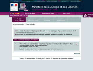 timbre.justice.gouv.fr screenshot