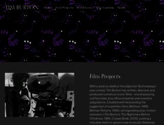 timburton.com screenshot