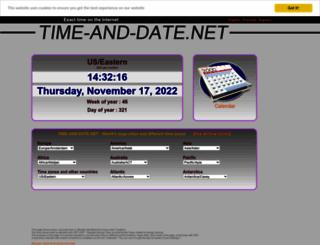 time-and-date.net screenshot