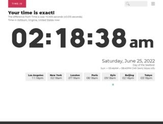 time.is screenshot