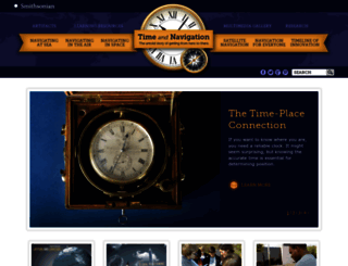 timeandnavigation.si.edu screenshot