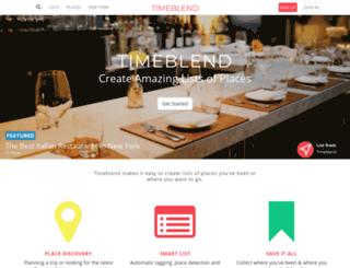 timeblend.com screenshot