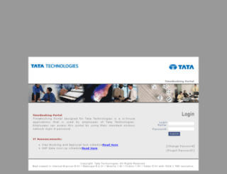 timebooking.tatatechnologies.com screenshot