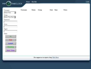 timeclock.isd181.org screenshot