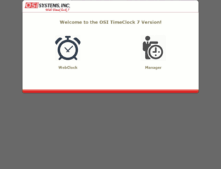 timeclock.osi-systems.com screenshot