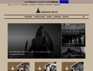 timelessmyths.com screenshot