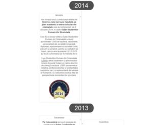timeline.uefiscdi.ro screenshot