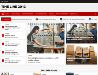 timeline2012.net screenshot