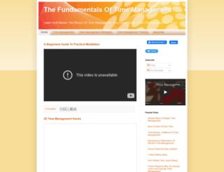 timemanagementbasics.blogspot.com screenshot