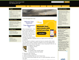 timeorganized.com screenshot
