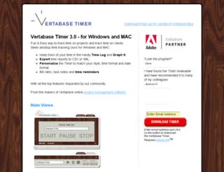 timer.vertabase.com screenshot