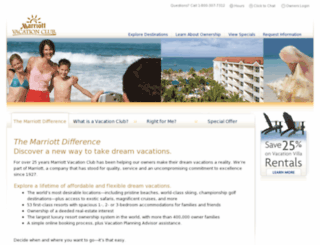 timeshares.marriott-vacations.com screenshot