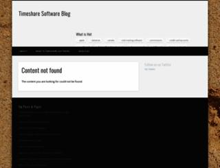 timesharesoftware.org screenshot