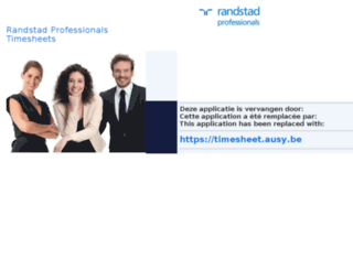 timesheet.randstadprofessionals.be screenshot