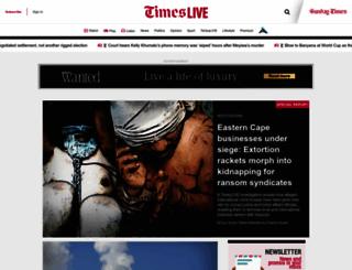 timeslive.co.za screenshot