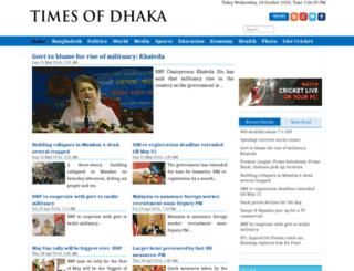timesofdhaka.com screenshot