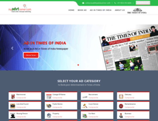 timesofindia.myadvtcorner.com screenshot