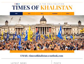 timesofkhalistan.com screenshot