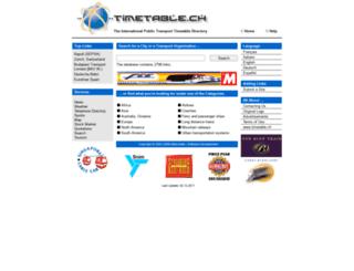 timetable.ch screenshot