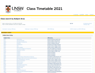 timetable.unsw.edu.au screenshot