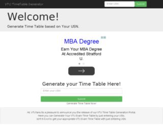 timetable.vturesultshub.com screenshot