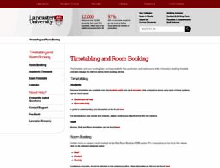 timetabling.lancaster.ac.uk screenshot