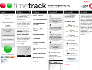 timetrack.eu screenshot