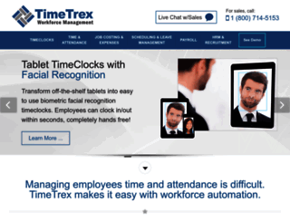 timetrex.com screenshot
