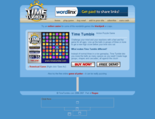 timetumble.com screenshot