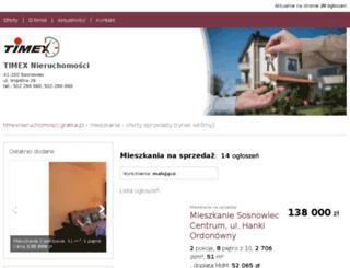 timexnieruchomosci.gratka.pl screenshot