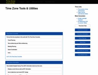 timezoneconverter.com screenshot