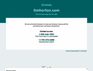 timhorton.com screenshot