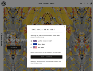 timorousbeasties.com screenshot