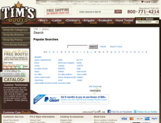 timsboots.commerce-search.net screenshot