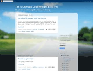 timsloseweightblog.blogspot.com screenshot
