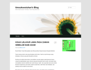 timsuksestuhan.wordpress.com screenshot