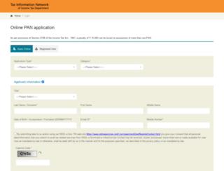 tin.tin.nsdl.com screenshot