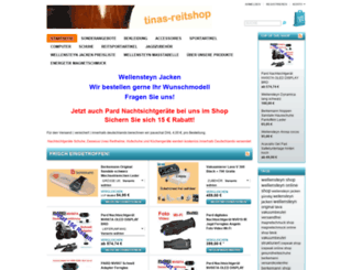 tinas-reitshop.de screenshot