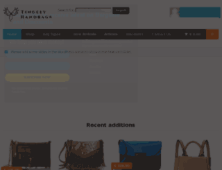 tingelyhandbags.com screenshot