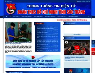 tinhdoan.soctrang.gov.vn screenshot